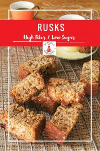 Traditionally South African rusks are full of sugar and fat. To turn them into the perfect breakfast snack I came up with a delicious healthy rusks recipe.