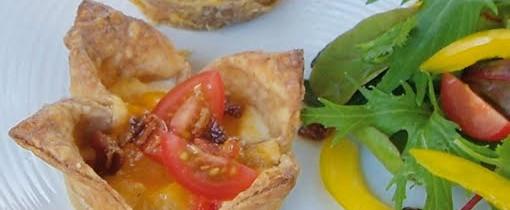 Mini bacon and cheese quiche