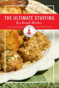 Stuffing is not a very South African thing so I used to make my roast chicken au natural. However, after trying this roast chicken stuffing recipe I will never go without it again!