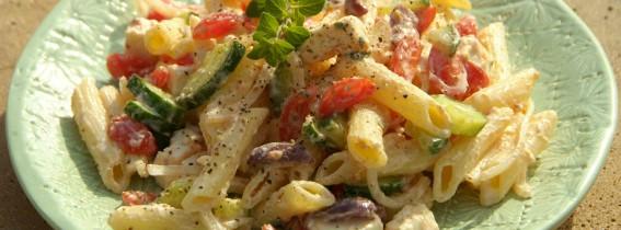 Greek Pasta Salad a la Woolies