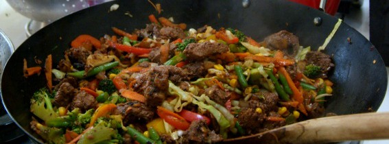 Beef in Black Bean Sauce Stir Fry
