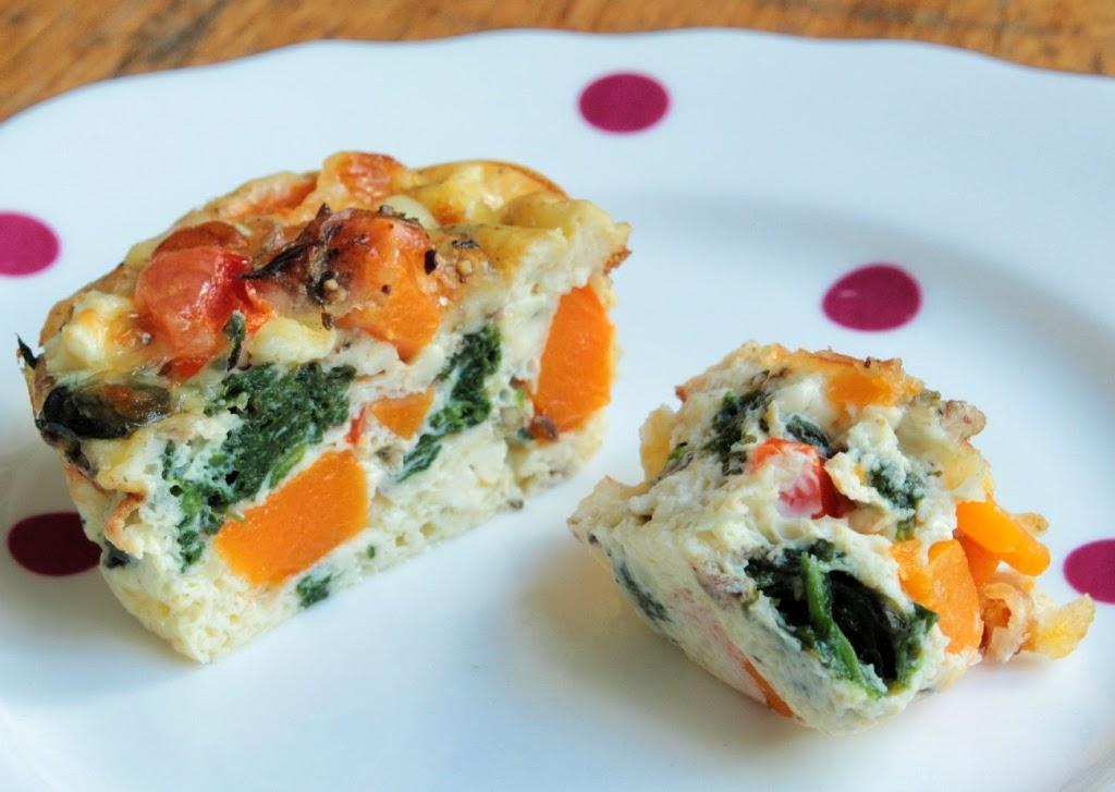 Mini crustless quiche – so quick (and almost guilt free).