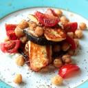 Grilled Aubergine and Haloumi Salad