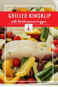 For a perfect light and low-carb meal that works well as a quick lunch or when entertaining, try this delicious grilled Kingklip recipe with Mediterranean vegetable.