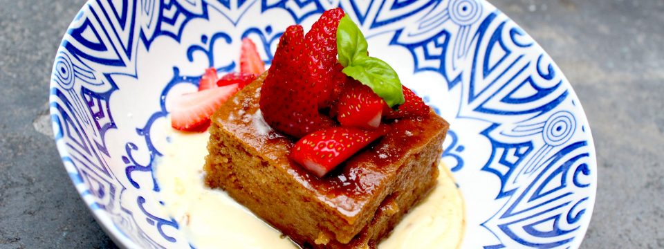 Gluten and dairy-free Malva Pudding