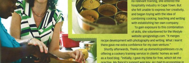 Phiwe and my magazine debut!