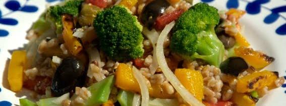 Roast butternut, broccoli and barley salad