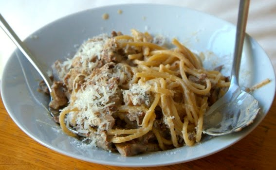 Decadent mushroom pasta for the 'whole' family
