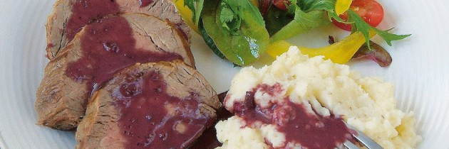 Rosemary and red wine sauce