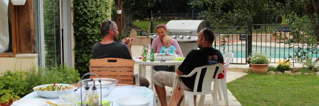 Seafood braai with old friends!