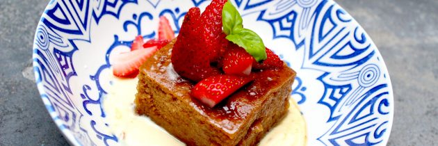 Gluten and dairy-free Malva Pudding